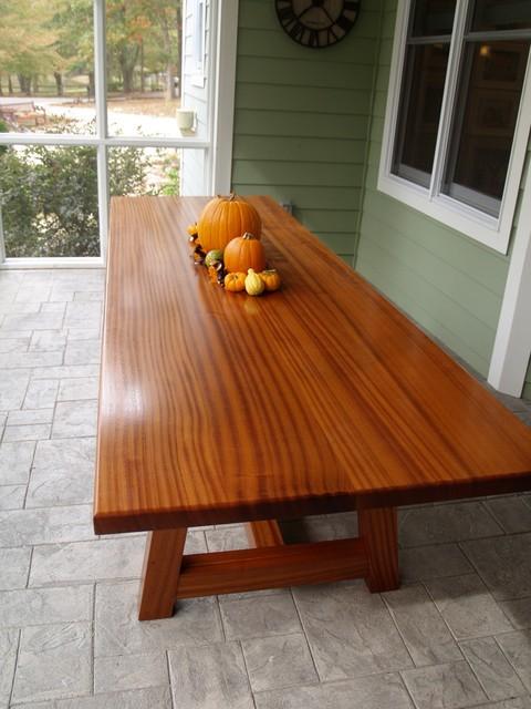 Sapele Farm Table Contemporary