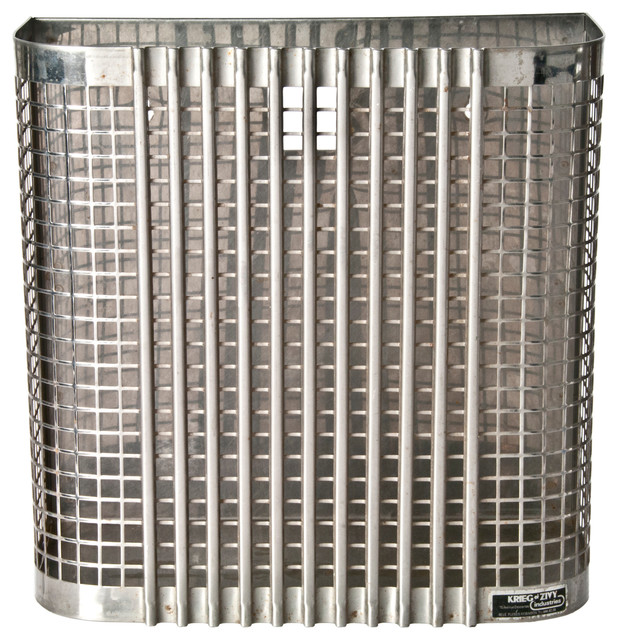 ... Perforated Steel Industrial Storage Bin industrial-decorative-accents