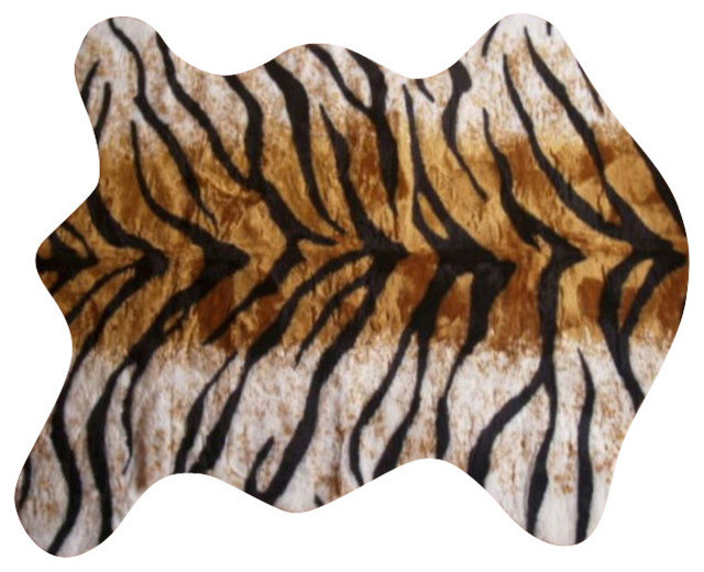 Faux Bengal Tiger Skin Rug 4 10x6 8 Large Contemporary