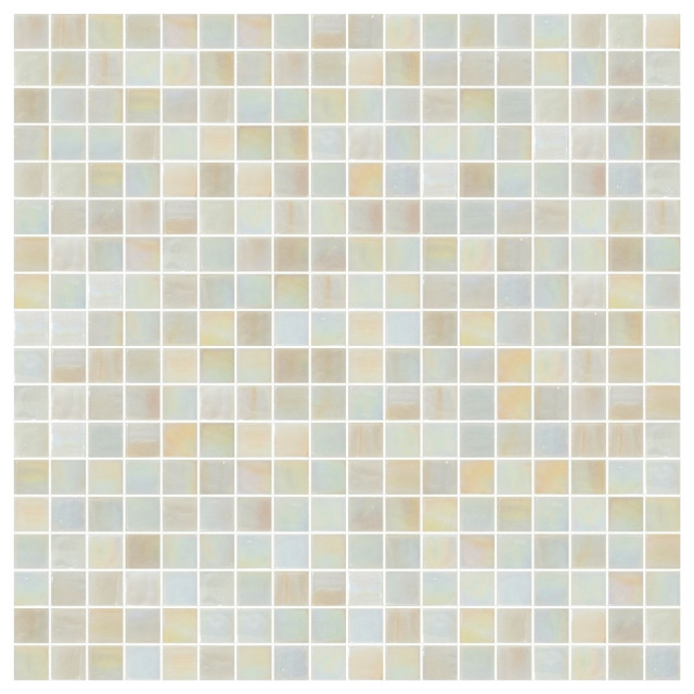 Oyster Pearl Iridescent Glass Tile Chip Size 5 8 Contemporary Mosaic Tile By Susan Jablon Mosaics Houzz