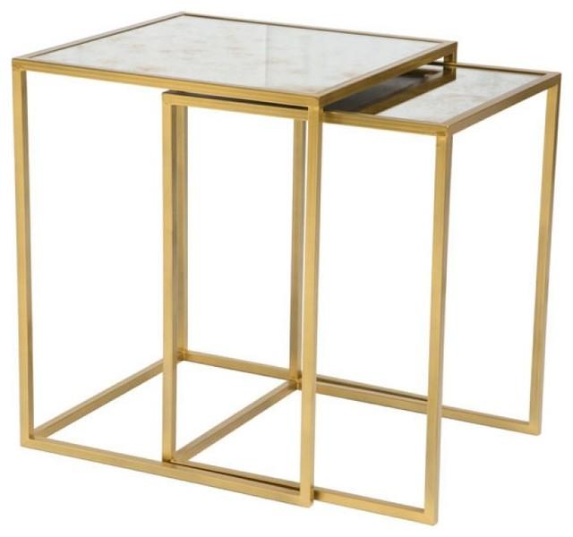 Calais Nesting Tables, Brass