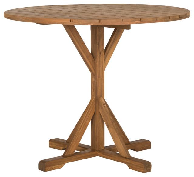 Safavieh Arcata Indoor/outdoor Round Table, Teak.