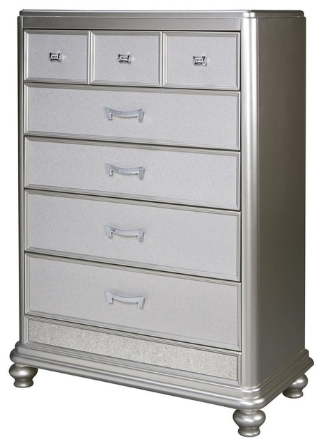 reputable site c5078 a4ea8 Ashley Coralayne 5-Drawer Chest, Silver