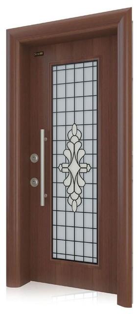Otantika Steel Security Door With Decorative Glass Interior Doors By Score Materials