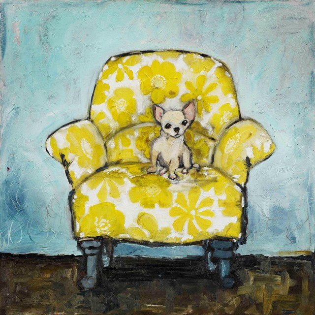 """""""dog Allowed In"""" Painting Print On Canvas By Tori Campisi."""