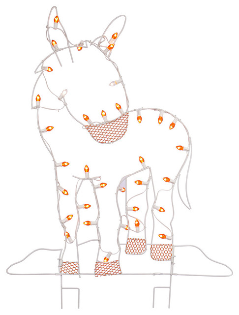 """47""""x31"""" Led C7 Wire Silhouette Donkey."""