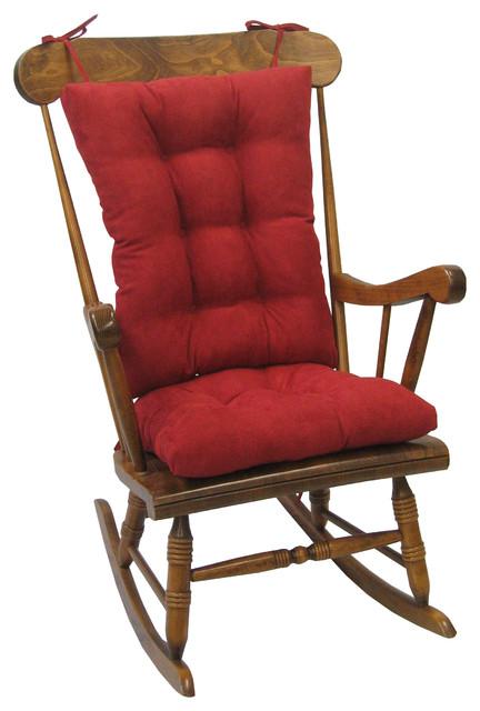 Gripper Twillo Jumbo Rocking Chair Cushion Set, Red.