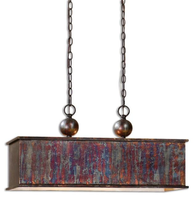 Uttermost Albiano Rectangle 2-Light Pendant, Bronze