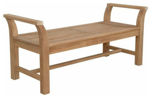 Sakura Backless Bench Asian Outdoor Benches by Peazz