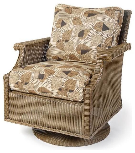 Hamptons Swivel Rocker Seat Cushion Pad ville Outdoor