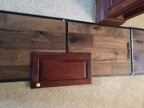 Wood floor to compliment dark cherry cabinets for Floors to match cherry cabinets