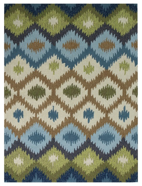 Piazza 1 Blue Multi Purpose Area Rug By Amer Rectangle