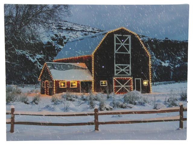 D Art Print//Canvas Home Decor Wall Art Poster Snow Covered Bridge
