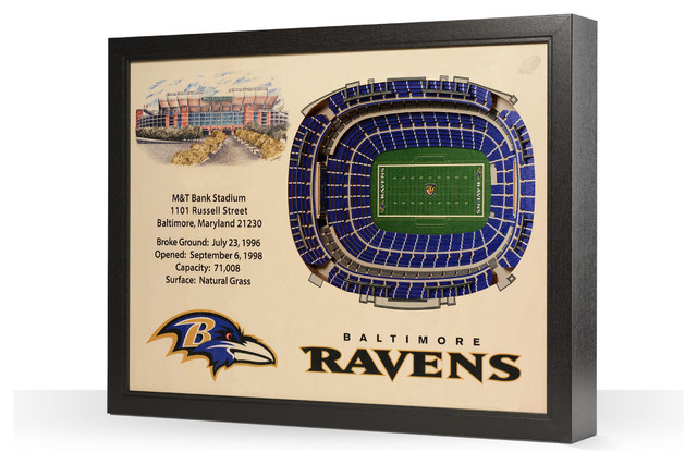 Baltimore Ravens M Amp T Bank Stadium 3 D Wall Art