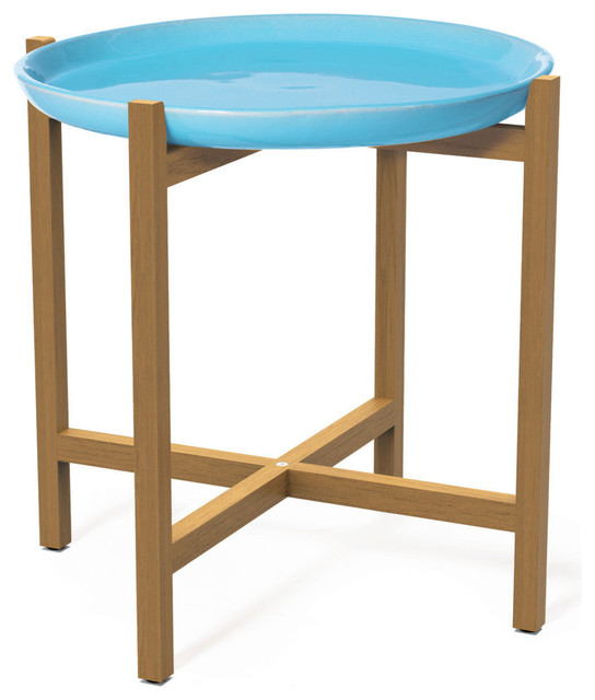 Ibis Teak Accent Table - Modern - Outdoor Side Tables - by Seasonal Living Trading LTD