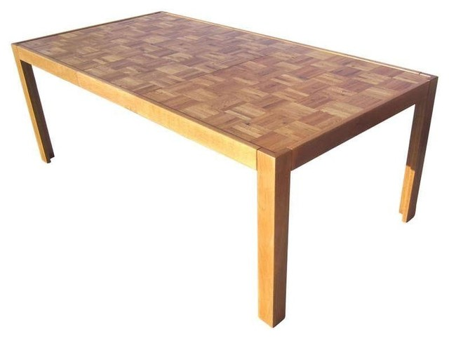 Parquet Top Parsons Table Modern Dining Tables