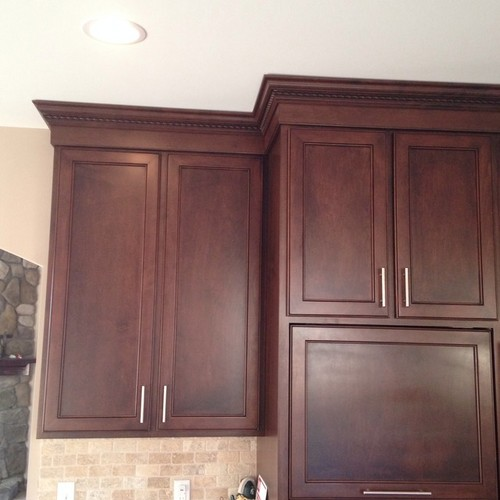 10 ft ceiling with kitchen cabinets to the top for Kitchen cabinets 36 x 42