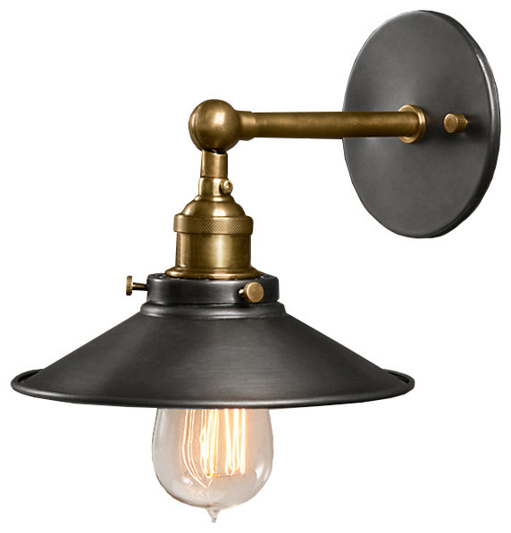 Liezel 1 Light Black Edison Wall Sconce Industrial Wall Sconces By Virventures Houzz