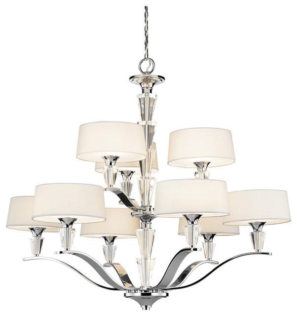Kichler 42031ch chandelier 9lt contemporary chandeliers by kichler 42031ch chandelier 9lt contemporary chandeliers mozeypictures Images