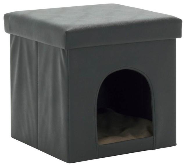 Pleasant Collapsible Pet Bed And Ottoman Black Inzonedesignstudio Interior Chair Design Inzonedesignstudiocom