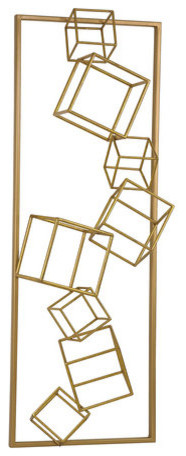 Sterling Industries Angular Study Wall Decor, Gold