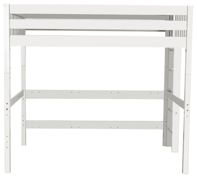 Becks Queen Size Loft Bed, White.