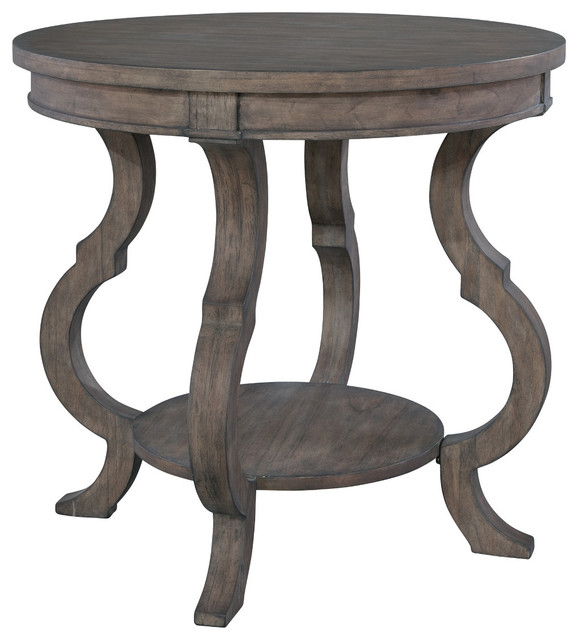 Round Table Lincoln.Hekman Lincoln Park Round Lamp Table With Shaped Legs