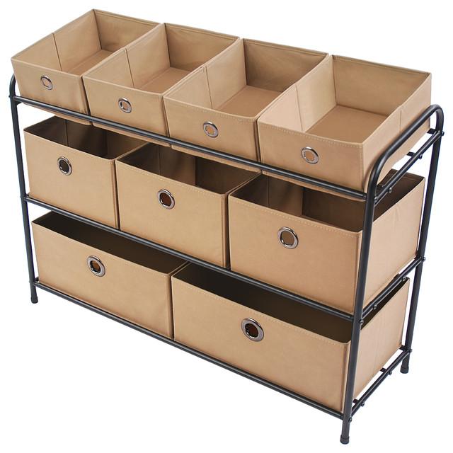 3-Tier Storage Organizer, Tan.