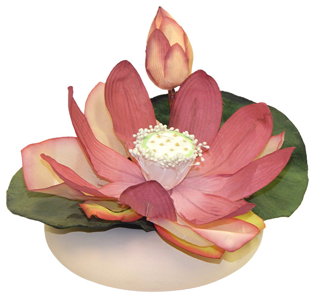 Lotus Blossom Boat Asian Artificial Flower Arrangements By