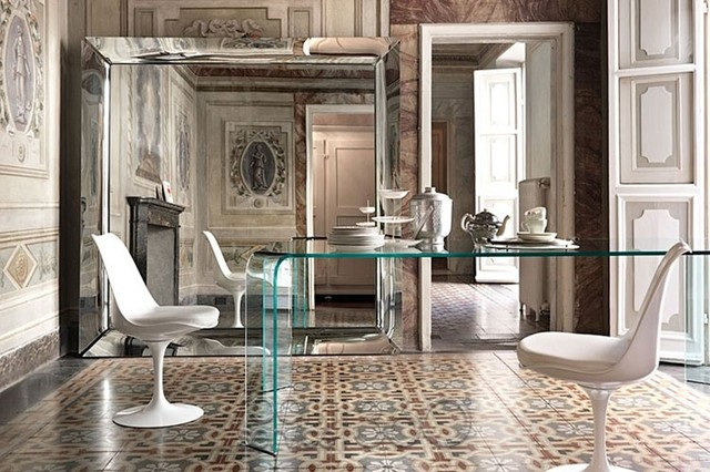caadre mirror by philippe starck for fiam italia contemporary living room - Philippe Starck Kitchen
