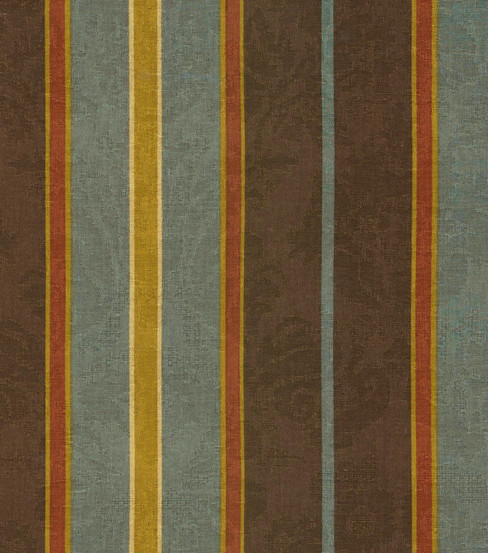 Waverly Newberry Stripe Fabric, Bay Leaf