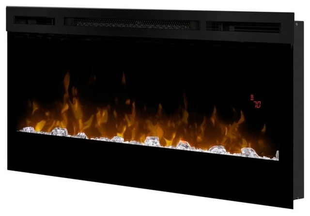 Dimplex dimplex prism 34 wall mount linear electric fireplace insert in black view in your - Contemporary electric fireplace insert accessories ...