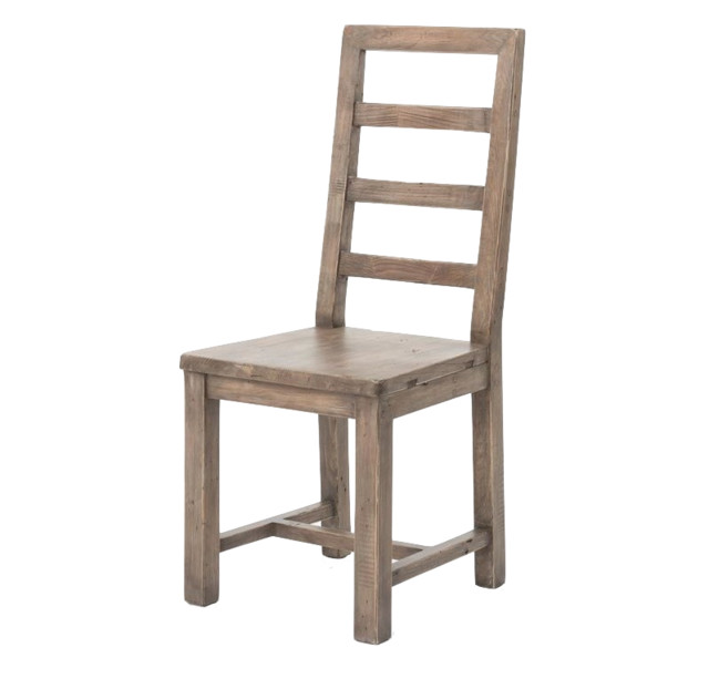 Four Hands Post And Rail Dining Chair, Sundried Ash Farmhouse Dining Chairs