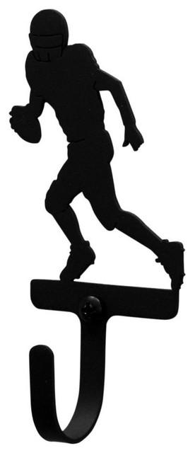 Wrought Iron Football Player Decorative Wall Hook, Small.