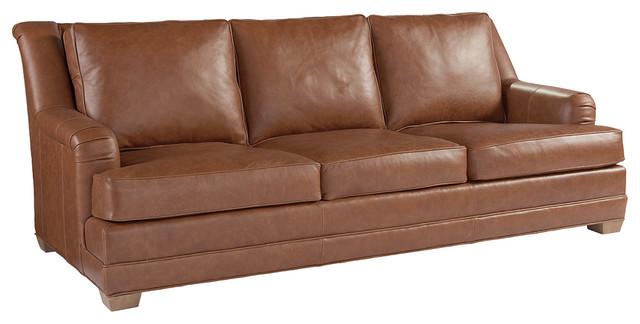 Benton Leather Sofa Transitional Sofas By Lexington