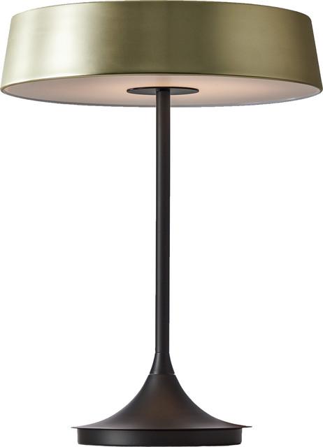China Led Table Lamp, Matt Brass, Black