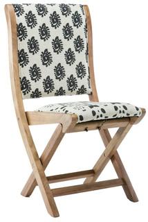 Misty Folding Chair, Swirls Back
