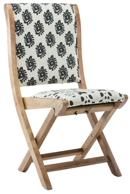 Misty Folding Chair Swirls Back Contemporary Folding