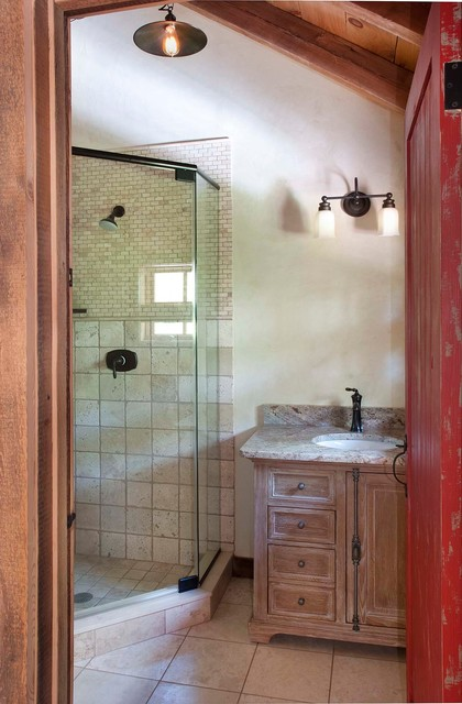 New hope barn conversion rustic bathroom for Barn conversion bathroom ideas