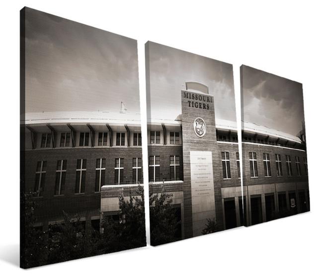 University Of Missouri Tigers Faurot Field Canvas Print, 24x48.