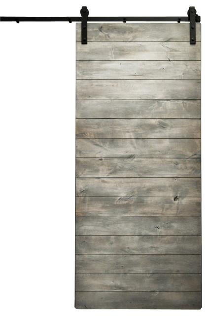 Dogberry Latitude Sliding Barn Door, Silverwood