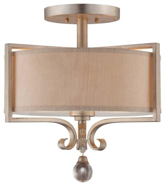 Savoy house rosendal semi flush silver sparkle traditional flush mount ceiling