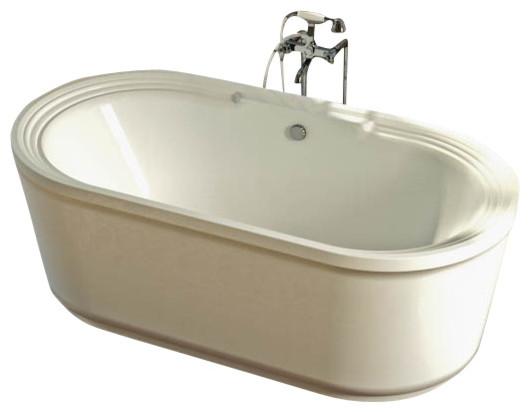 Atlantis Tubs 3467RW Royale 34x67x24 Inch Freestanding Whirlpool Jetted  Bathtub Traditional Bathtubs