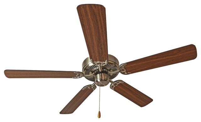 "Basic Max 52"" Ceiling Fan Walnut/pecan Blades, Satin Nickel/walnut/pecan"