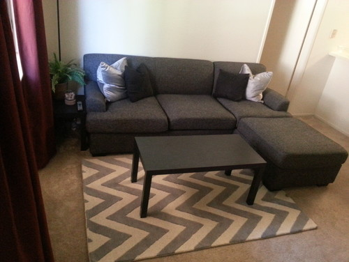 I Cant Decide If This 4x6 Area Rug Is Too Small For Sofa
