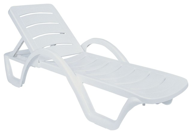 Compamia Sunrise Pool Chaise Lounges, Set of 4, White