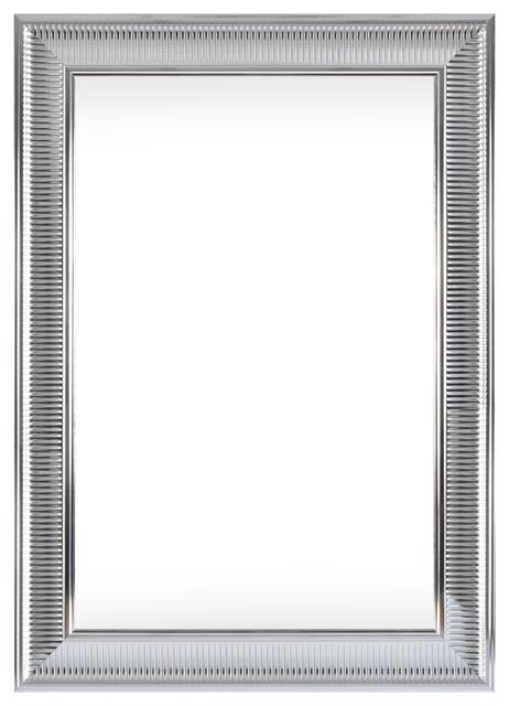 Edinburgh Silver Gloss Wall Mirror, 80x110 cm