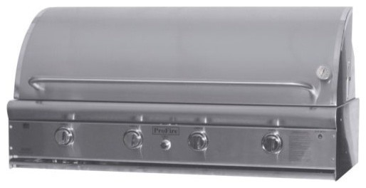 Profire Pfdlx48r Stainless Steel Natural Gas Grill Head With Rotisserie, 48.