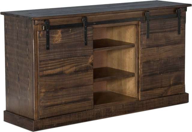 Barn Door 65 Rustic Tv Console Rustic Entertainment Centers And