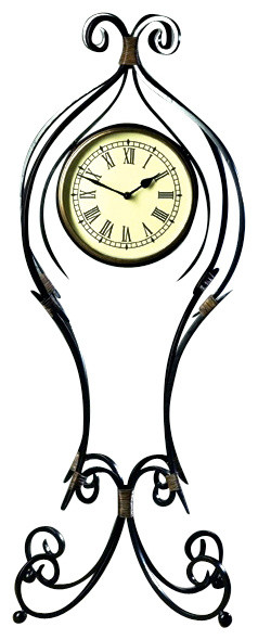 Iron Scroll Floor Clock Contemporary Floor And